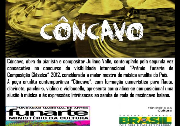 """Peça contemplado no concurso """"Prêmio Funarte de Composição Classica"""" 2012!"""